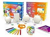 Kibi Amigos Neox Kidz Mr Plinton, Ojó, Galaxio y Bimba Muñecos para Dibujar y Colorear + App y Juegos 3D, color blanco (KT130010)