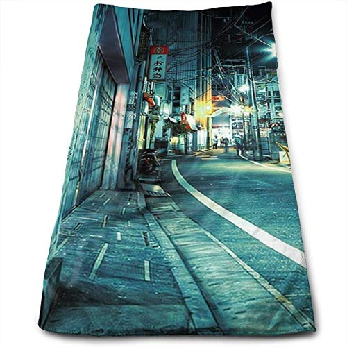 Juziwen Face Hand Towel Underground Hip Hop Bath Towel Multipurpose for Bathroom, Hotel, Gym and Spa 12