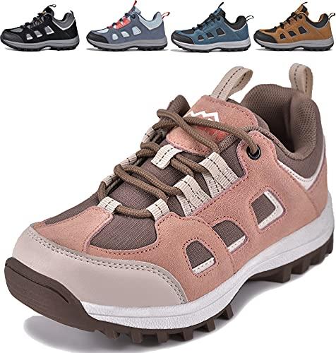 MARITONY Kinderschuhe Jungen Mädchen Kinder Schuhe Wanderschuhe Trekkingschuhe Sportschuhe Laufschuhe Turnschuhe Sneaker, Kaffee Rosa 27 EU