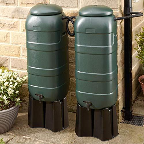 Rainsaver Mini 100 litre Green Water Butt Double Kit