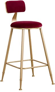 Taburetes para muebles de sala de estar Taburetes de bar modernos Silla de cocina con respaldo Pub Bar Taburetes altos...