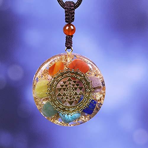 WATERMELON Orgonit Anhänger Chakra Reiki Halskette Yoga Energie-Strickjacke-Ketten-Halskette for Frauen Männer Schmuck