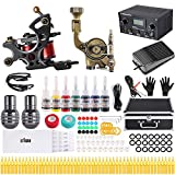 Stigma Tattoo Komplett Tattoo Set Tattoo Kit 2 Professionelle Tattoo Maschine 7 Tinten 20 Tattoo...