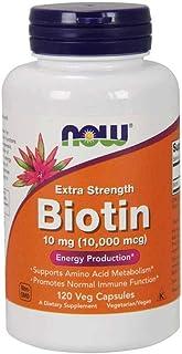 Now Foods Biotin, Extra Strength, 10mg, Veg Capsules, 120ct