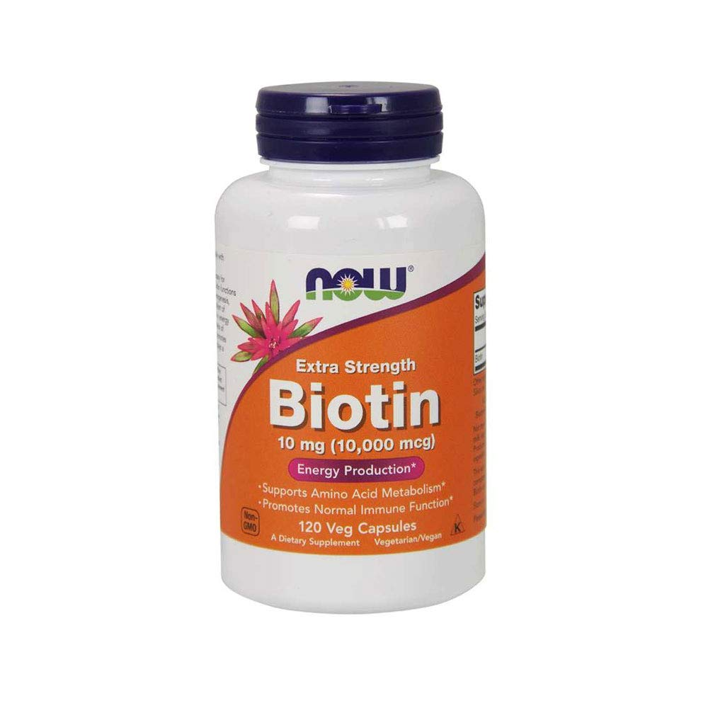 Now Supplements Biotin 000 Capsules