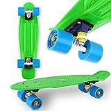 "WeLLIFE Skateboard Mini Cruiser RGX Verde Tavola Skate 22"" 56cm per Bambini Ragazzi Adulti, Ruote PU 78A Tavola Rinforzata Cuscinetti ABEC7"