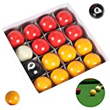 Ballshop Pool Balls Set Full Size UK Regulation Red-Yellow Quality Competition Match