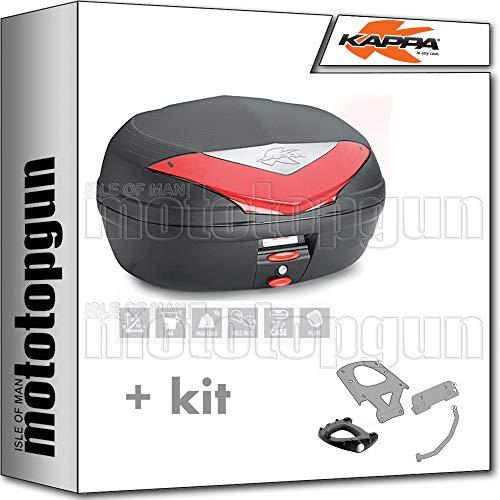kappa maleta k466n 46 lt + portaequipaje monolock compatible con bmw c 650 sport 2019 19 2020 20