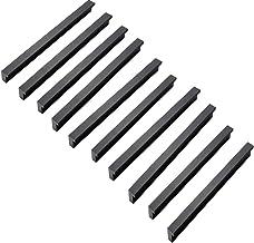 Meubelgrepen, zwart, deurgrepen, keukenkast, T-greep, gatafstand128 mm, 10 stuks Distance de trou 128mm