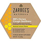 Zarbee's Naturals 99% Honey Cough Soothers, Natural Lemon Flavor, 14 Count