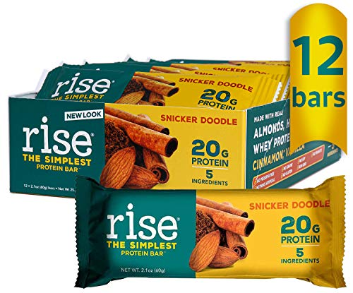 Protein Bar, Snicker Doodle, 12 Bars, 2.1 oz (60 g) Each - Rise Bar