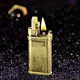 Laicengo Vintage Trench Lighter Kerosene Copper Lighter, Windproof Brass Lighter for Men Dad Husband (Fuel Not Included)