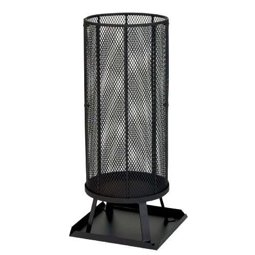 Kamino-Flam Leda Outdoor Fireplace, Patio Fire Basket, Powder-coated Steel Sheet Garden Fire Pit Heater, Camping Wood Burner Brazier with Base Plate, Outdoor Chiminea, approx. Ø 35 x 80 cm, Black