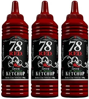 78 Red Spicy Ketchup 17.2 oz, 3 Pack