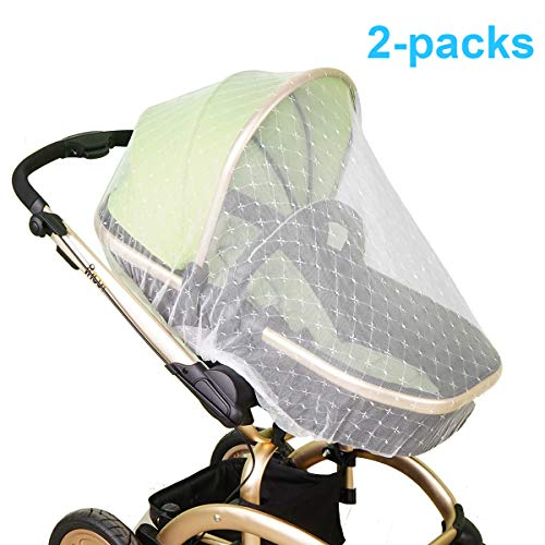 Mosquito Net for Baby Stroller | Bug Net for Infant Carriers Car Seats Cradles, Crib, Pack and Play, Bassinet, Playpen | Premium Infant Bug Protection for Summer Infant, Graco, Baby Jogger, Chicco
