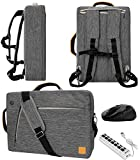 VanGoddy Slate Gray Convertible Laptop Bag with USB Hub and Mouse for MSI Shadow GS30 13.3', P PS42 14'