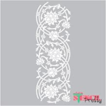 Museum Grade Ultra Thick Clear Color Material Stencil - Ornate Persian Border DIY Flower and Vine Template-S (6.2