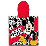 Various Poncho - Toalla Infantil con Capucha de niño y niña Licencia Oficial Disney (Mickey Mouse a)