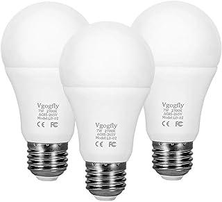 لامپ 7W E26 / E27 اتوماتیک روشن / خاموش، در محیط داخلی / در فضای باز حیاط باغچه باغبانی (سفید گرم، 3 بسته)