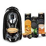 Tchibo Cafissimo Compact Kapselmaschine, Schwarz (für Kaffee, Espresso und Caffè Crema) inkl. 30 Kapseln