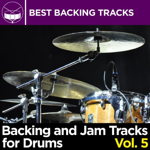 Drum Backing Track Blues Rock Shuffle in E