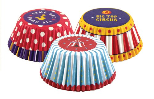 Fox Run Circus Bake Cup Set, 3 x 3 x 1.25 inches, Multicolored