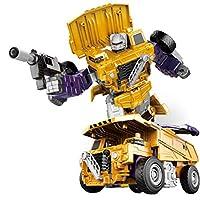 coldwhite ロボットカーを変える エンジニアリング車両シリーズ変形車ロボット変形車モデル玩具 親子関係を強化するインタラクティブなおもちゃ way