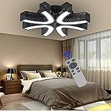 BFYLIN 54W lámpara de techo led Regulable de sala de estar luz de cocina lámpara de techo de lámpara de techo habitación ahorro de energía lámpara de techo cocina (Negro-54W Regulable)