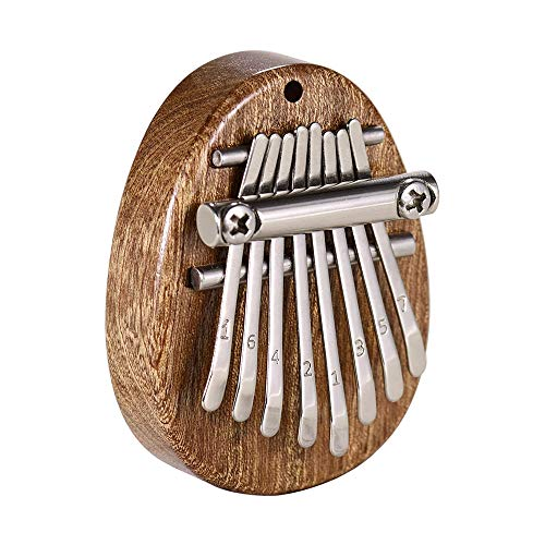 Kalimba Thumb Piano 8 Keys Portable Mini Wooden Finger Mbira with Lanyard Special Gifts for Kids and Adults Beginners