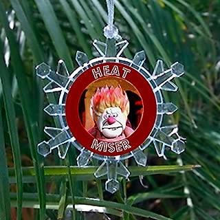 Heat Miser Promo Snowflake Multi Color Blinking Holiday Christmas Tree Ornament