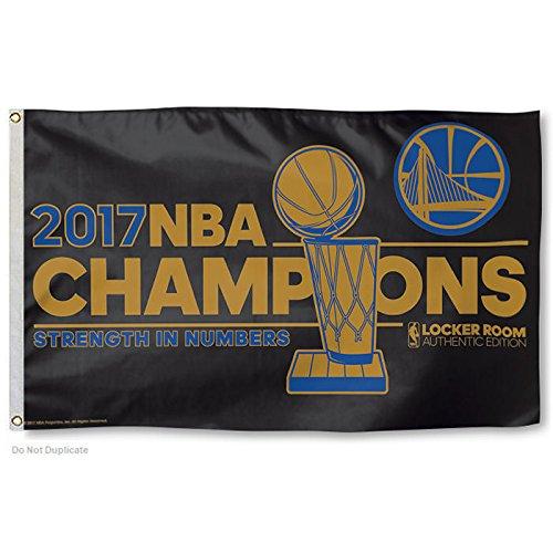 WinCraft Bandeira dos campeões da NBA 2017 Golden State Warriors
