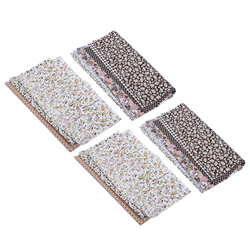 Yagosodee Small Floral Cloth Plain Cotton Sewing Cloth Pure Cotton Cloth DIY Handmade Accessories