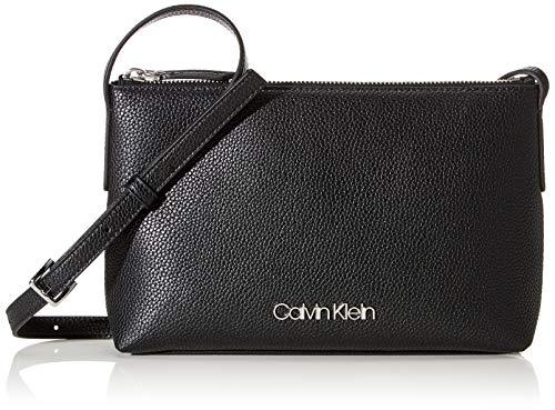 Calvin Klein Damen Neat Crossbody Umhängetasche, Schwarz (Black), 1x1x1 cm