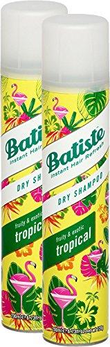 Batiste Champú en seco Coconut & Exotic Tropical, para todo tipo de cabello, 2 unidades (200 ml)