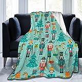 Nutcracker blanket throw Velvet Plush Home Fleece Throw Blanket For Couch Sofa Bed, Warm Elegant Fuzzy Flannel Blanket For Kid Baby Adults Or Pet, Lightweight Soft Cozy Warm Luxury Microfiber Blankets