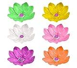 747011 Pack da 6 lanterne fiore di loto galleggianti 30 x 30 cm colori assortiti. MEDIA WAVE store
