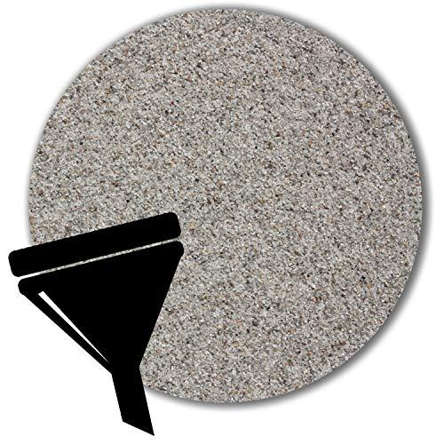 Müller GmbH 25 kg Filtersand Filterkies hellgrau Filterquarzsand für Sandfilteranlagen Pool grau (0,5 - 1,0 mm)