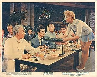 Athena original lobby card 1954 Jane Powell serves food Japanese restaurant