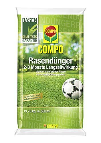Compo Rasendünger, 2-3 Monate Langzeitwirkung, Feingranulat, 13,75 kg, 550 m²