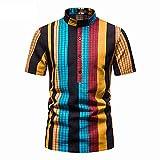 SSBZYES Camisas para Hombres Camisas De Verano De Manga Corta Camisas De Talla Grande para Hombres Camisas a Rayas para Hombres Camisetas para Hombres Tops