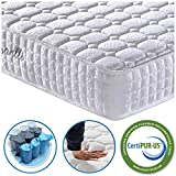 Vesgantti 9.4 Inch Pocket Sprung Mattress with Breathable Foam and Individually Wrapped Spring - Medium Plush Feel, Tight Top Collection