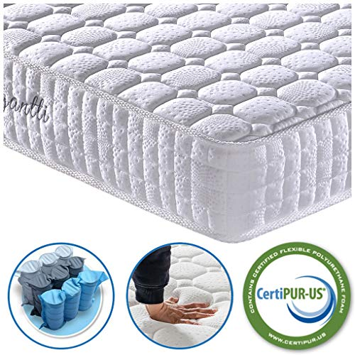 Vesgantti 4FT6 Double Mattress, 9.4 Inch Pocket Sprung Mattress Double with Breathable Foam and...