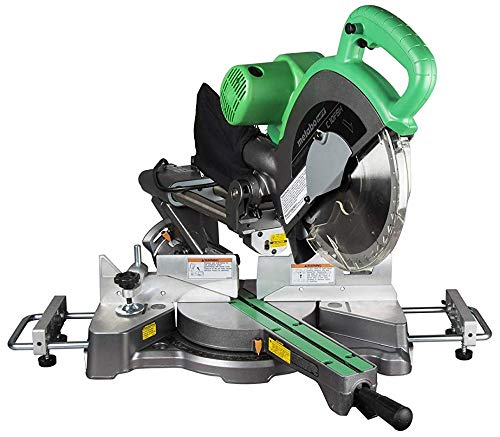Metabo HPT 10 Sliding Compound Miter Saw, Adjustable Laser Guide, Double Bevel, Electronic Speed Control, 12 Amp Motor, Electric Brake (C10FSHS)