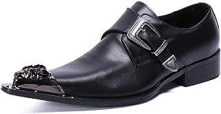 YOWAX Los Zapatos de Cuero de los Hombres por Formal, Casual, Oficina, Partido, Zapatos de Negocios Personalizada Vaquero ...
