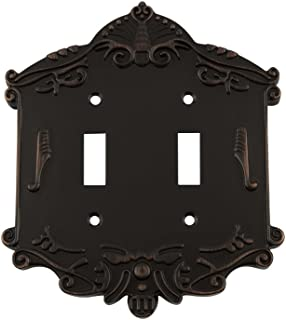 Nostalgic Warehouse 719651 Victorian Switch Plate with Double Toggle, Timeless Bronze