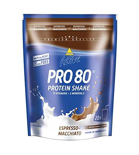 Inkospor Active Pro 80 Protein Shake, Espresso-Macchiato, 500g Beutel