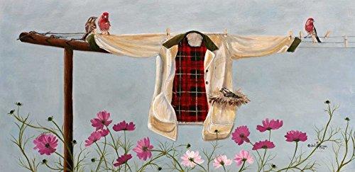 Feeling at home Lamina-sobre-Lienzo-ENROLLADA-Cm_57_X_118-Peterson-Julie-Los-pájaros-país-paisaje-Floral-Canvas-enrollado-380gr-100% Lienzo