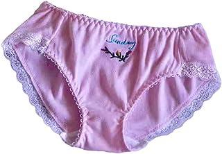 Cute Lolita Kawaii Embroidery Cotton Lace Panties Underwear Brief Lingerie