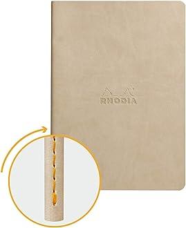 BEIGE Rhodia 118625C Rhodiarama Notizbuch DIN A6 96 Blatt Blanko