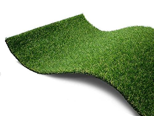 Kunstrasen Rasen-Teppich Meterware - CAMELLIA, 2,00m x 0,50m, Hochwertiger, UV-Beständiger, Wasserdurchlässiger Outdoor Bodenbelag für Balkon und Terrasse